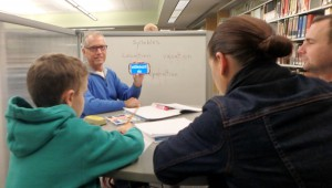 David Muething uses Google Translate to help his Hungarian students learn English.